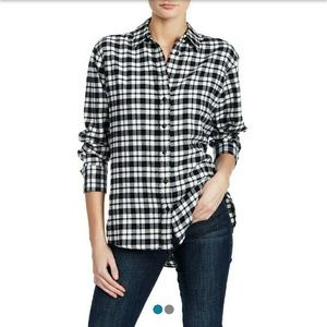 Madewell Long Sleeve Plaid Side Button Flannel